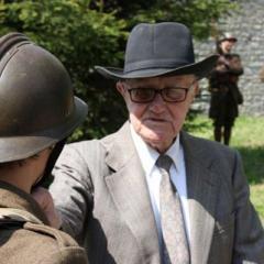 Georges Breyne lors de sa dernière visite à Haut-le-Wastia en 2013 pour les 10 ans du musée